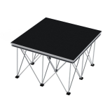 Alustage Staging Solution  1x1mtr Black Carpet Panther Portable Staging & Riser